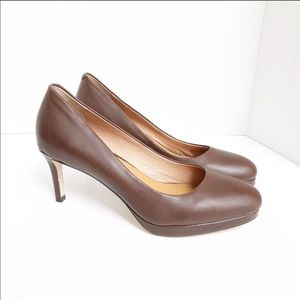 Corso Como Leather Brown Pumps Heels